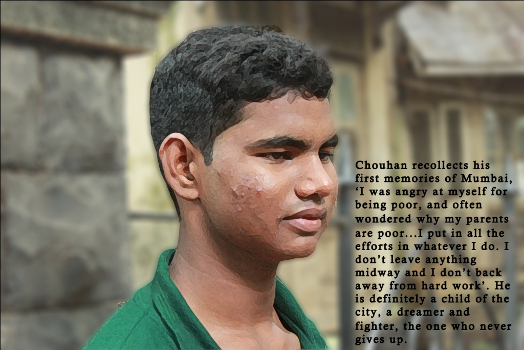 Avdesh Chouhan, 19, works at the YMCA canteen and wants to become a lawyer